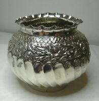 ANTIQUE VASE BOWL - ENGLISH HALLMARKED STERLING SILVER - BIRMINGHAM 1888