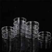 10pcs estéril poliestireno plástico placa de Petri platos con tapas 35x15mm GNyu