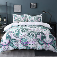 National Floral Single/Double/Queen/King Size Bed Quilt Duvet Doona Cover Set