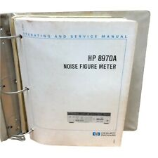 Hp 8970a Noise Figure Meter Operating Amp Service Manual