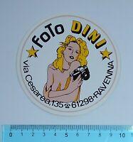 ALTER AUFKLEBER ADESIVO STICKER FOTO DINI ANNI '80 VINTAGE 9x9 cm