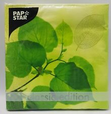 Green Leaf Photo Serviettes Napkin Pack Of 20 by Pap Star Germany High Quality