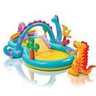 Intex Dinoland Inflatable Play Center KIDDIE POOL, 74 gal Kids INFLATABLE POOL