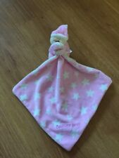Mothercare My Bedtime Bear Pink Stars Comforter Blanket Soft Toy Blankie