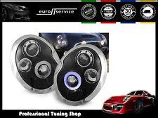 NUOVO COPPIA FARI ANTERIORI LAMPADE LPMC02 BMW MINI COOPER 01-06 ANGEL EYES