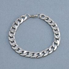 Fashion Men's Titanium Steel Chain Wristband Clasp Cuff Bangle Bracelet Punk