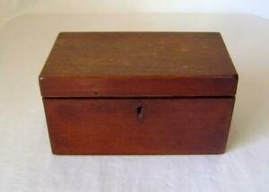 Antique Mahogany Tea Caddy Box  with two compartments: Small Size