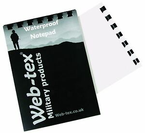 A6 POCKET SIZE ARMY RING BOUND 50 PAGE WATERPROOF NOTEPAD NOTE BOOK NOTEBOOK