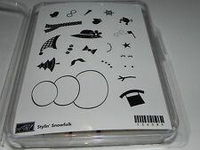 Stampin Up Stylin' Snowfolk Stamp Set NEW UM Snowman Bird Mitten Snowflake