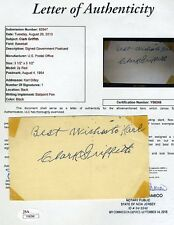 Clark Griffith Signed Jsa Full Ltr 1954 Gpc Authentic Autograph