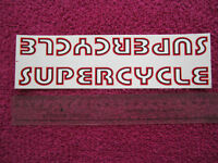 VINTAGE BIKE BICYCLE SUPERCYCLE DOWNTUBE STICKER NOS