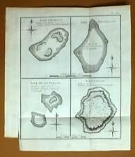 ILE D'HARVEY, PALMERSTON, DE LA TORTUE et SAVAGE Gravure Voyage James COOK 1778