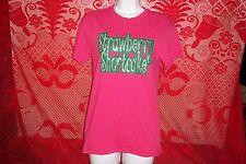 Strawberry Shortcake Sparkling Pink T-Shirt Womens Small