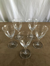 """5 Baccarat Zurich Tall Water Goblets Vintage 7 1/2"""" Tall"""