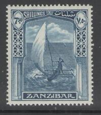 ZANZIBAR SG321 1936 7s50 LIGHT BLUE MTD MINT