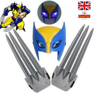 X-men Hero Wolverine Claws Luminous LED Mask Logan Cosplay Kids Toys Set Gift UK