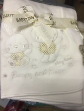 Baby Blanket Bunny And Bear In Cream