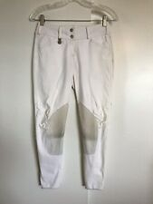 PIKEUR Ciara White Knee Patch Breeches 24 R Euroseat Low Rise