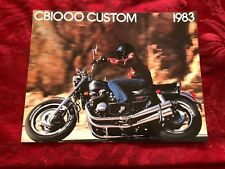 1983 HONDA CB1000 CUSTOM DEALER SALES BROCHURE ORIGINAL