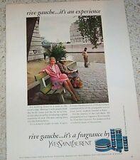 1973 print ad - YSL Yves Saint Laurent RIVE GAUCHE perfume advertising ADVERT