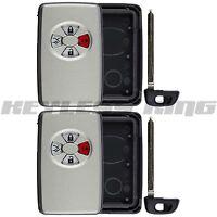 2 New Keyless Entry Remote Key Insert Fob Shell Case for 2005-2007 Toyota Avalon