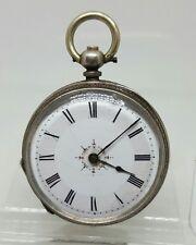 Nice antique solid silver ladies pocket watch c1900 working