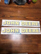 Two Nice John Deere Logo Decals 2 Inch X 17 Inch