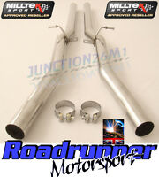 Milltek Audi RS6 C5 V8 02-04 Exhaust Stainless Non Res Centre Link Pipes Louder