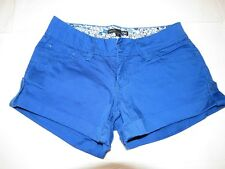 YMI Hot Short shorts 3 S90208 20702 royal blue womens juniors GUC *^