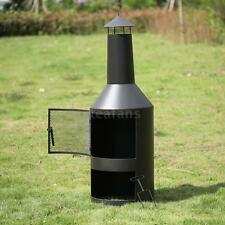 Outdoor Fire Pit Backyard Patio Fireplace Deck Wood Burning Heater Chiminea C4Z3