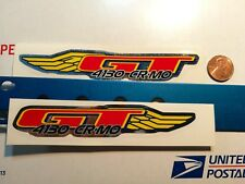 GT  SMALL WING  DECALS BMX FREESTYLE frame STICKERS