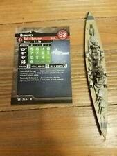Bismarck 35/64 Axis and Allies War at Sea German With Card
