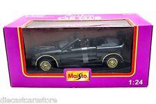 Maisto Mustang GT Convertible Car Club Black w Gold Rims 1/24 Diecast Car