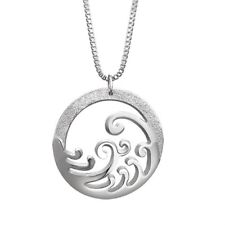 Newbridge Silverware Jewellery Round Ocean Waves Celtic Pendant. New. Boxed