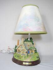 Thomas Kinkade Lamp Everettes Cottage Table Night Light  Vintage - Works - Mint