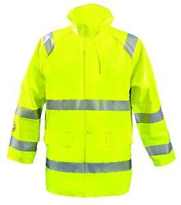 OccuNomix LUX-TJR/FR-Y2X Premium Flame Resistant Waterproof Rainwear Class 3 2XL