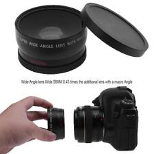 58mm 0.45X Pro High Definition Super Wide Angle with Macro Lens for Canon Nikon