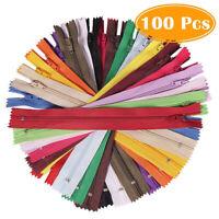 100 Stück Nylon Reißverschlüsse Mehrfarbig Multifunktional DIY Haushalt DE