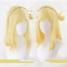Love Live! Sunshine!! Aqours Ohara Mari Yellow Mixed Short Cosplay Costume wig