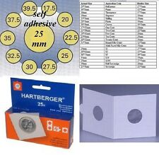 25 HARTBERGER self adhesive  2 x 2 coin holders:25mm   made in the Netherlands