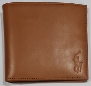 Polo Ralph Lauren Mens Leather Billfold Wallet in Light Brown Colour
