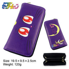 Anime Sailor Moon Tsukino Usagi Mizuno Ami Mars Canvas Long Zip Wallet Purse New
