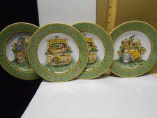 """Debbie Mumm """"Garden Vignette"""" -  Set of 4 Salad/Dessert Plates 1999"""