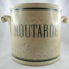 Ancien GROS POT à MOUTARDE Faïence LUNEVILLE Objet Commerçant vintage/Dijon/loft