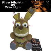 """7"""" FNAF Five Nights At Freddy's Springtrap BUNNY Plush Toy Soft Doll Kids Gift"""