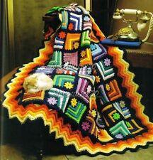 Big Book of Scrap Crochet Afghans ~ 70 Beautiful Afghan Patterns ~ See Photo's