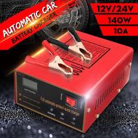 12V/24V 140W 10A Lead Acid Battery Desulfator Charger For Car Truck Motorcycle