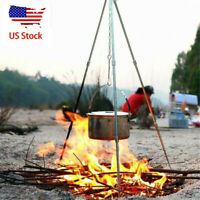 2Pc Camping Barbecue Grill Camp Fire Cooking Rack Grate Outdoor BBQ PicniGbia