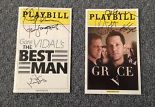 2 signed Broadway Playbills Paul Rudd John Stamos Kristen Davis Antman w Proof