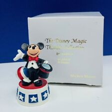 Walt Disney Lenox magic thimble collection figurine box Mickey Mouse tuxedo ball